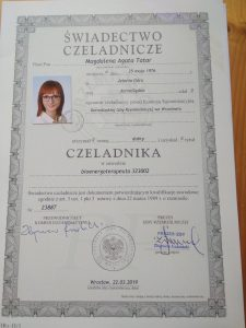 Tatar Magdalena świadectwo